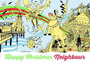 KMN Reindeer christmascard