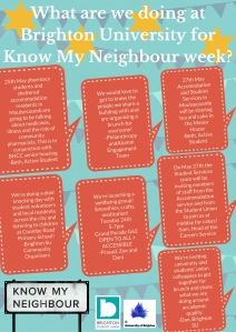 What are we doing for Know My Neighbour week_